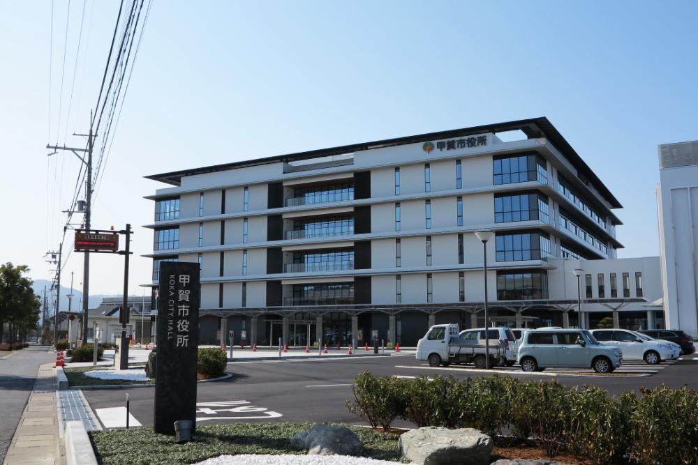 甲賀市・市役所新庁舎 外観の画像など