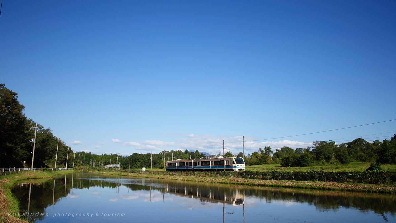 水口町松尾・日野別所の貯水池周辺 / 甲賀市の近江鉄道ガイドと写真撮影スポット