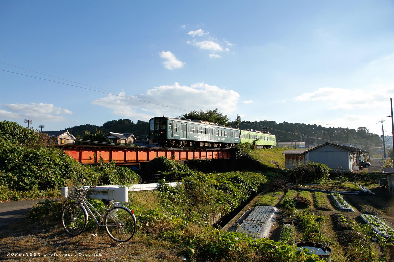 水口町・内貴橋南詰周辺 / 甲賀市の近江鉄道ガイドと写真撮影スポット